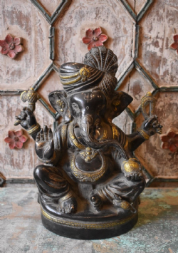 Bronze Casting of Ganesha with a Turban
